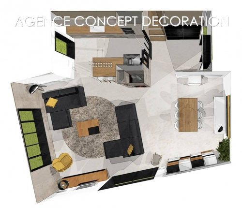 agence concept d coration. Black Bedroom Furniture Sets. Home Design Ideas